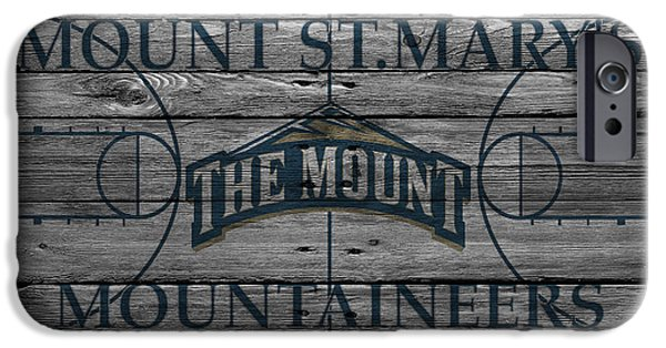 Marys iPhone Cases - Mount St Marys Mountaineers iPhone Case by Joe Hamilton