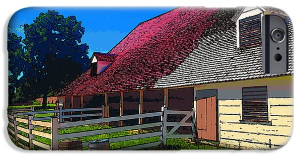 4th July Digital iPhone Cases - Mount Vernon Stable 1 Cartoon iPhone Case by Robert Pierce