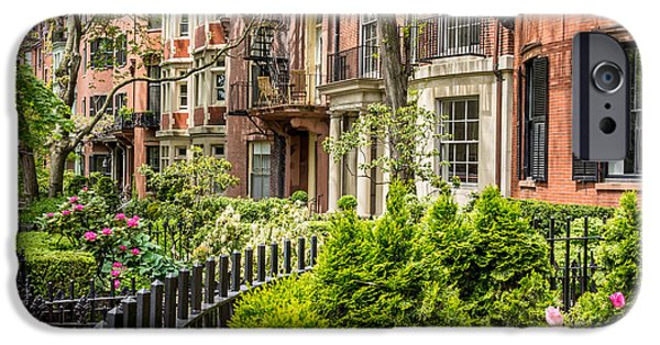 Recently Sold -  - City. Boston iPhone Cases - Mount Vernon Street iPhone Case by Susan Cole Kelly