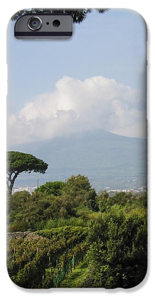 Ruins iPhone Cases - Mount Vesuvius iPhone Case by Adam Romanowicz