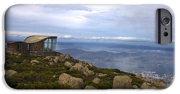 River View iPhone Cases - Mount Wellington Tasmania iPhone Case by Jason O Watson