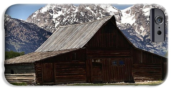 Old Barns iPhone Cases - Mountain Barn iPhone Case by Dan Sproul