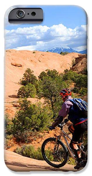 Mountain Biking Moab Slickrock Trail - Utah iPhone Case by Gary Whitton
