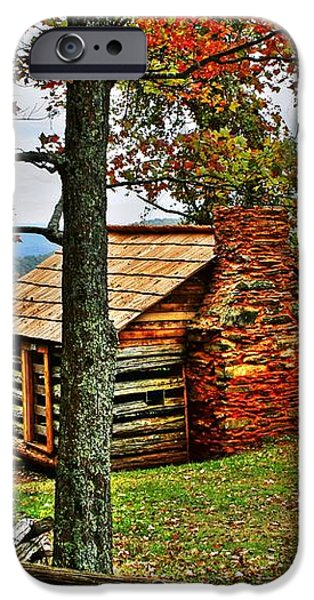 Mountain Cabin 1 iPhone Case by Dan Stone