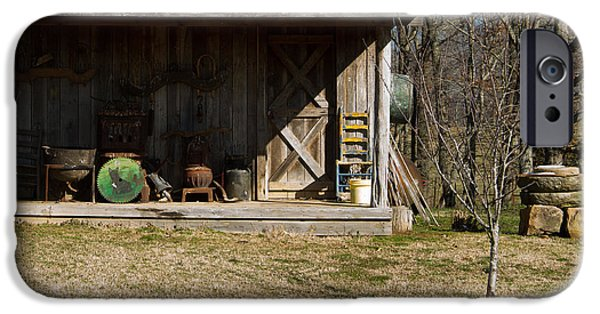 Mountain Cabin iPhone Cases - Mountain Cabin in Tennessee 3 iPhone Case by Douglas Barnett
