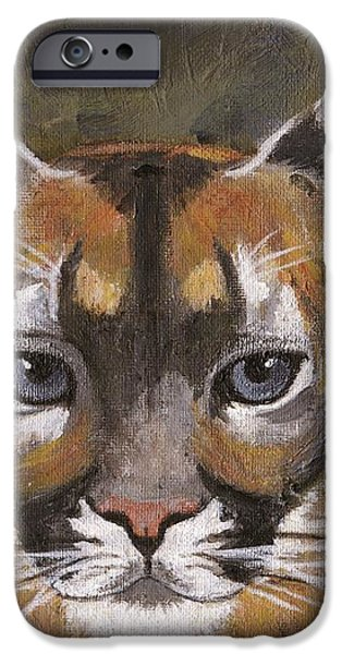 Mountain Cat iPhone Case by Jamie Frier