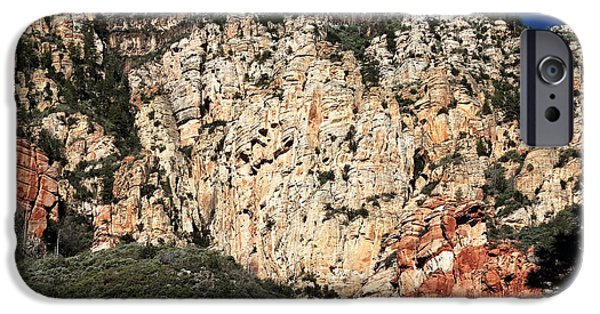 Oak Creek iPhone Cases - Mountain Colors in Oak Creek iPhone Case by John Rizzuto