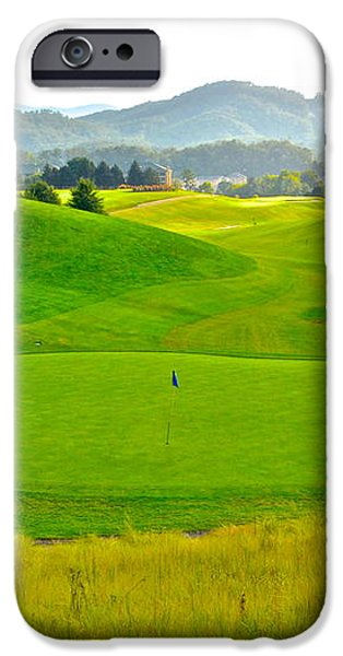 Mountain Golf iPhone Case by Frozen in Time Fine Art Photography
