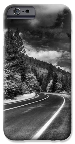Mountain Highway iPhone Case by Mick Burkey