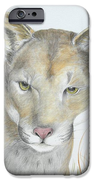 Painter Drawings iPhone Cases - Mountain Hunter iPhone Case by Joette Snyder