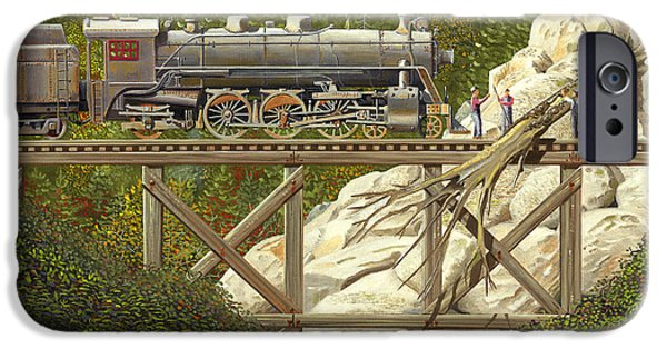 Steam Locomotive iPhone Cases - Mountain impasse iPhone Case by Gary Giacomelli