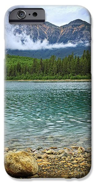 Pristine iPhone Cases - Mountain lake iPhone Case by Elena Elisseeva