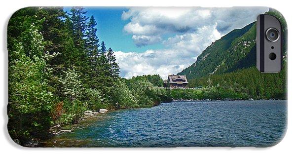 July iPhone Cases - Mountain lake iPhone Case by Maja Sokolowska