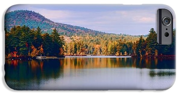 New England Lighthouse iPhone Cases - Mountain Lake Reflection iPhone Case by Don Dennis
