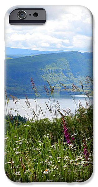 Mountain Lake Viewpoint iPhone Case by Carol Groenen