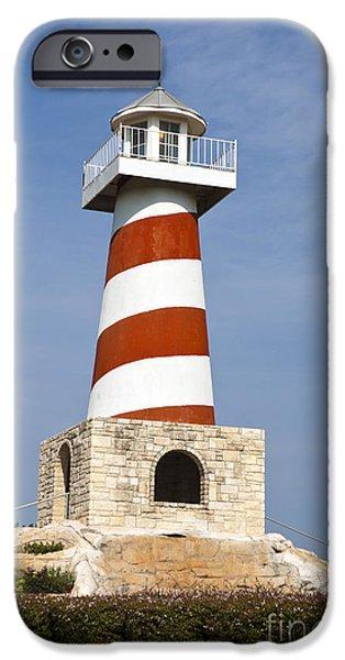 Watson Lake iPhone Cases - Mountain Lakes Lighthouse Bluff Dale Texas iPhone Case by Jason O Watson