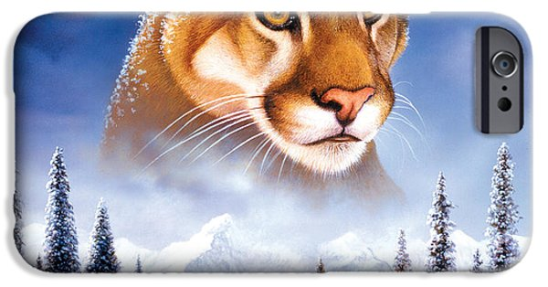 Animals Photographs iPhone Cases - Mountain Lion iPhone Case by MGL Studio - Chris Hiett