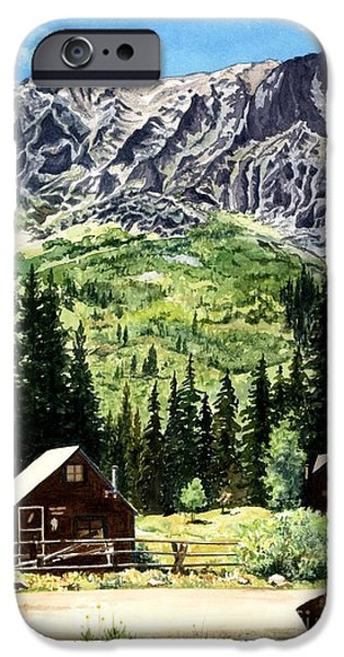 Biological Paintings iPhone Cases - Mountain Majesty iPhone Case by Barbara Jewell