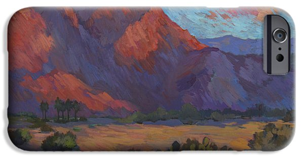 Morning Light Paintings iPhone Cases - Mountain Majesty iPhone Case by Diane McClary