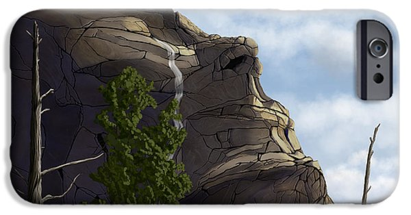 Torn iPhone Cases - Mountain Mother iPhone Case by Phil McDonald