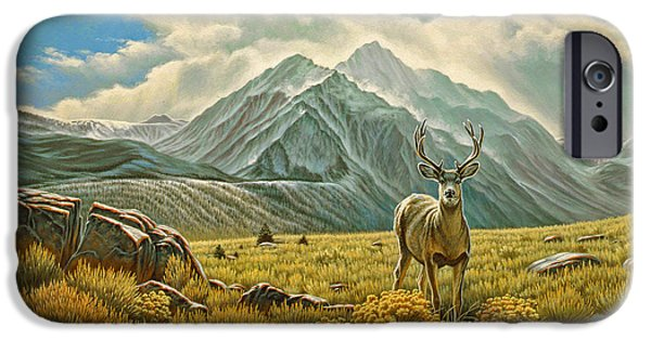 Sierras iPhone Cases - Mountain Muley iPhone Case by Paul Krapf