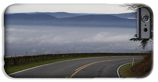 Smokey Mountain Drive iPhone Cases - Mountain Pass iPhone Case by Brooks Byrd