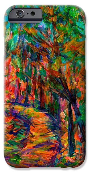 Abstract Expressionist iPhone Cases - Mountain Path iPhone Case by Kendall Kessler