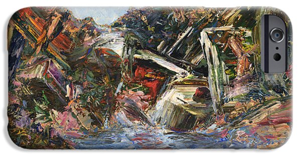 Abstract Expressionist iPhone Cases - Mountain Pool iPhone Case by James W Johnson
