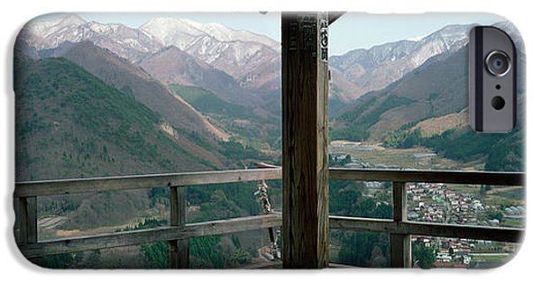 Balcony iPhone Cases - Mountain Range From A Balcony iPhone Case by Panoramic Images