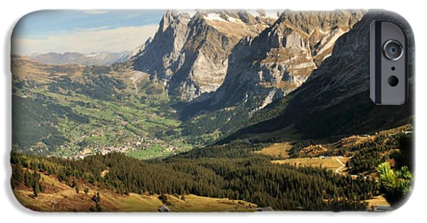 Grindelwald iPhone Cases - Mountain Range, Grindelwald, Kleine iPhone Case by Panoramic Images