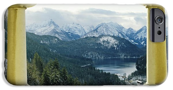 Balcony iPhone Cases - Mountain Range Viewed From The Balcony iPhone Case by Panoramic Images