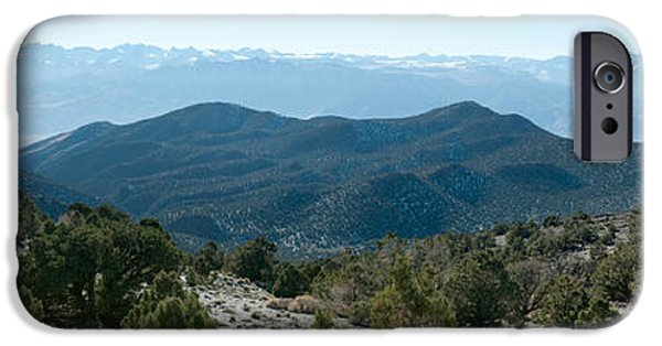 White Mountains iPhone Cases - Mountain Range, White Mountains iPhone Case by Panoramic Images