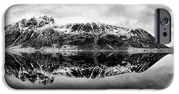 Snow iPhone Cases - Mountain Reflection iPhone Case by Dave Bowman