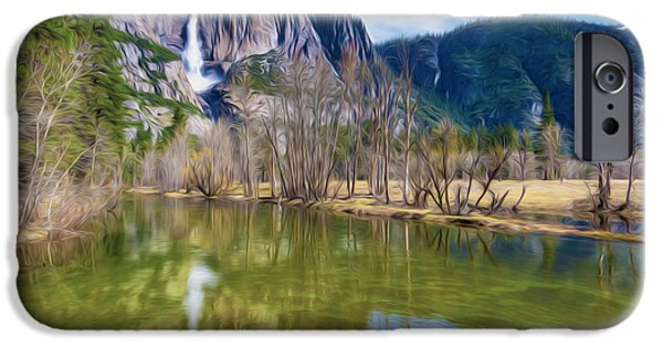 Cathedral Rock iPhone Cases - Mountain Reflection in Lake iPhone Case by Lanjee Chee