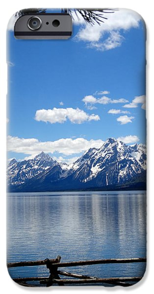 Mountain Reflection On Jenny Lake iPhone Case by Dan Sproul