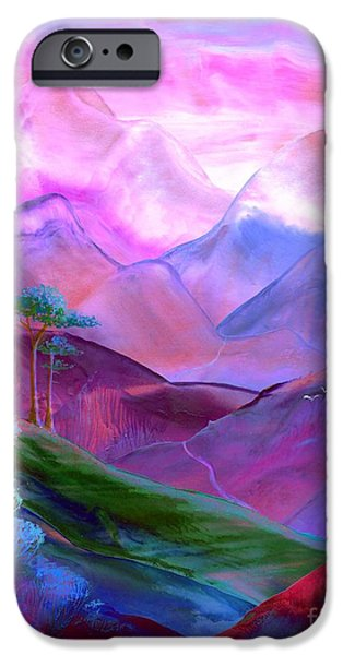 Vivid iPhone Cases - Mountain Reverence iPhone Case by Jane Small
