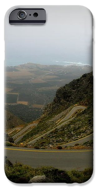 Mountain Road Crete iPhone Case by Lainie Wrightson