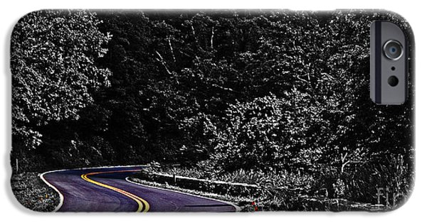 Asphalt iPhone Cases - Mountain Road iPhone Case by Tom Gari Gallery-Three-Photography