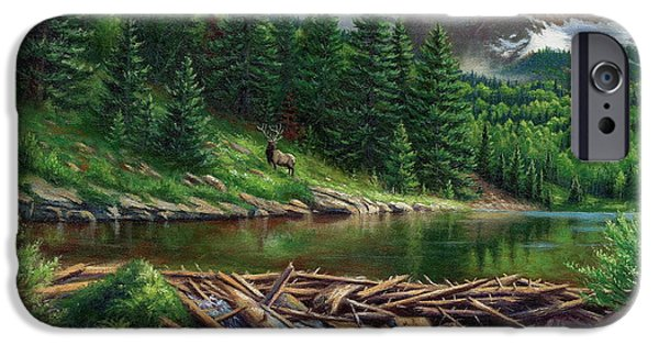Willow Lake iPhone Cases - Maroon Bell Splendor iPhone Case by Asa Gochenour