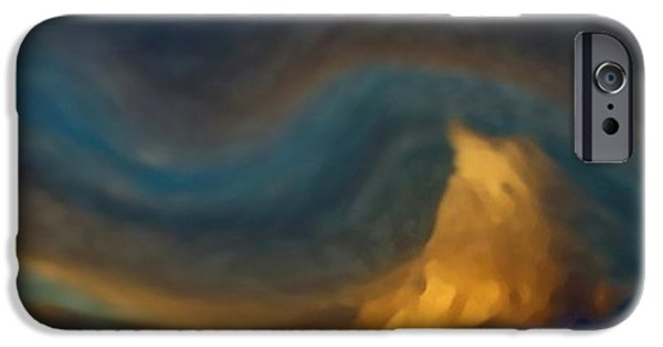Interior Scene Mixed Media iPhone Cases - Mountain Storm Approaching iPhone Case by Dennis Buckman
