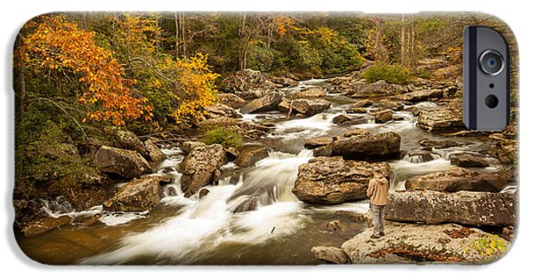 Grist Mill iPhone Cases - Mountain Stream Fisherman iPhone Case by Bobby  Hicks