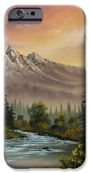 Mountain Sunset iPhone Case by C Steele