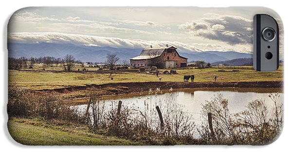 Tn Barn iPhone Cases - Mountain View Barn iPhone Case by Heather Applegate
