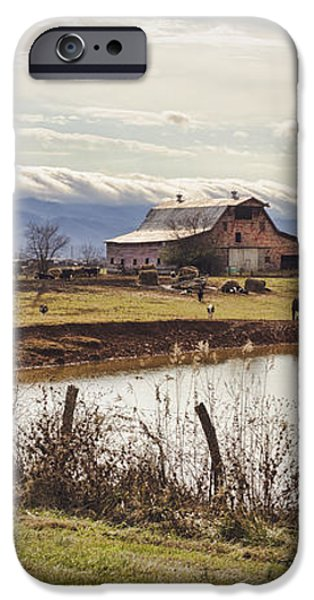 Mountain View Barn iPhone Case by Heather Applegate