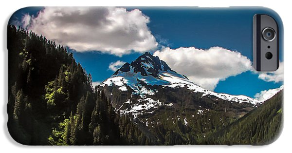 Inside Passage iPhone Cases - Mountain View iPhone Case by Robert Bales