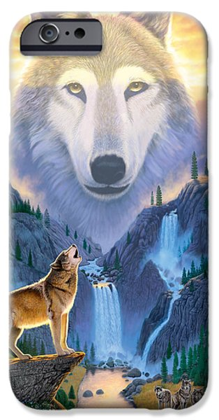 Animals Photographs iPhone Cases - Mountain Wolf iPhone Case by Chris Heitt