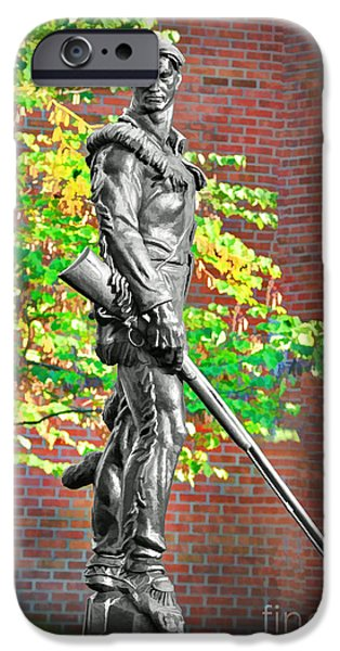 Mountaineer statue iPhone Case by Dan Friend
