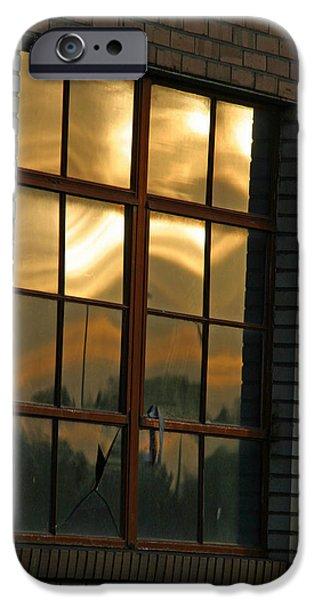 Mountains and Sun in Window iPhone Case by Emily Clingman