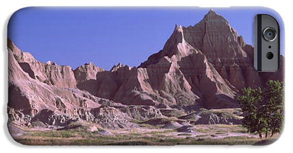 Mountain iPhone Cases - Mountains At Badlands National Park iPhone Case by Panoramic Images
