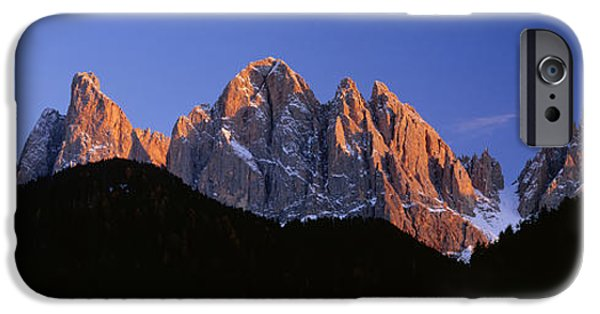 Mountain iPhone Cases - Mountains At Sunset, Dolomites, Val Di iPhone Case by Panoramic Images
